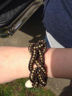 Premier Designs its a wrap bracelet, crocheted.