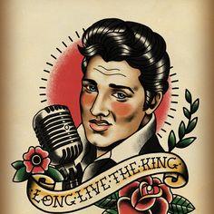 Long Live The King / Elvis Art Print by Lauren C Skinner | Society6