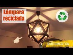 Cómo hacer LAMPARAS con MATERIAL RECICLADO FÁCIL. MANUALIDADES FÁCILES - YouTube Diy, Ceiling Lights, Lighting, Home Decor, Youtube, Home, Easy Crafts, Recycled Crafts, Homemade Goo