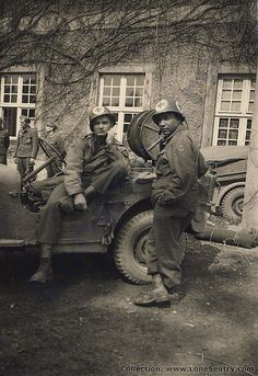 Jeep and Medics of 102nd Infantry Div.