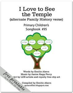 A Year of FHE: Song of the Month: January 2012 (alternate lyrics to 'I Love to See the Temple' to help explain family history and ordinances to kids better) Activity Day Girls, Activity Days, Lds Primary, Primary Music, Primary Singing Time, Primary Chorister, Primary Activities, Family Home Evening, Happy Kids
