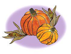 Pumpkins & Corn.  Free PDF pattern at website.