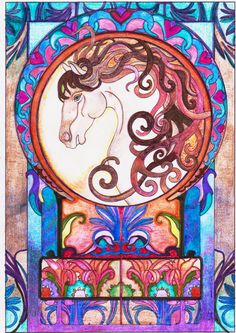 Patricia Ress (18+ division) from Creative Haven Art Nouveau Animal Designs Coloring Book