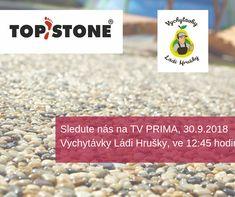Je to tu!  V neděli, 30. září 2018 ve 12:45 na TV PRIMA v pořadu Vychytávky Ládi Hrušky ... můžete sledovat pokládku kamenného koberce TopStone s novými 100% UV stabilními pojivy PolyaStone a PolyaStone Wall, se kterými je pokládka možná i s teplotami okolo nuly (což se Vám v následujících týdnech a měsících bude hodit 😉)  #topstone #tvůrcekamínkovýchpovrchů #tvůrcelitýchpovrchů #litápodlaha #vodopropustnápodlaha #vodopropustnost #topstonevtelevizi #sledujtesnámiTV #vychytávkyLádiHrušky Food, Essen, Meals, Yemek, Eten