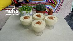 Meşhur Alaçatı Muhallebisi Glass Of Milk, Ham, Pudding, Desserts, Food, Dairy, Recipes, House, Ideas