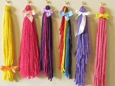 WIll make these myself form dollar tree! My Little Pony Tails Pin the Tail on the Pony