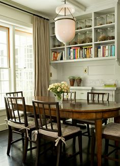 Charming dining space.