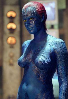 Mystique (from X-Men, 2000). Portrayed by Rebecca Romijn