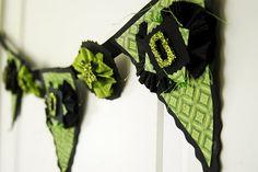Green Halloween banner #iloveavocadosforhalloween