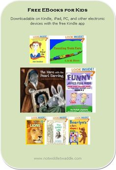 Today's list is 35 free eBooks and includes a very nice picture book that would be worth even spending money on (but it's free!) These books won't be free long!