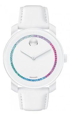 Movado Bold, multicoloured crystals.. yes please!