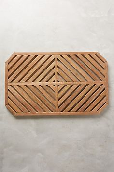 Teak Slat Bath Mat- I love this so much. Would also be great outside by the pool shower. Wooden Bathroom, Wood Bath Mats, Bathroom Decor, Bath Mat, Trending Decor, Bathroom Items, Wooden Bathroom Accessories, Bath Rugs, Wood Bath