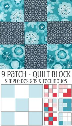 Quilting basics.  An introduction to this foundation block for quilters - the 9-patch quilt block.  Everything you need to know about how to sew it, and lots of variations on designs you can make with this basic 9-patch block design.  Works great with jelly rolls, and perfect for creating pixel-quilts too.  For more quilting tips, visit The Sewing Loft