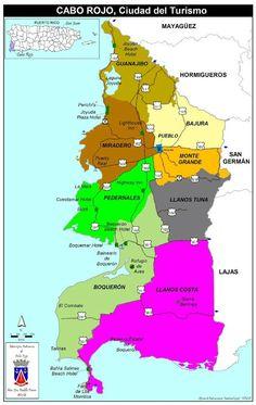 Mapa de Cabo Rojo ,Puerto Rico