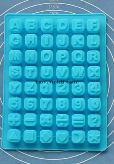 Alfabet Numbers Punctuation Flexible Silicone Mold