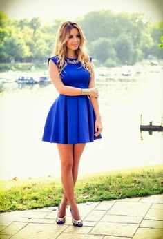 Elegant and Pretty Short Dresses You Must Love - Pretty Designs Pretty Short Dresses, Navy Blue Short Dress, Sexy Dresses, Cute Dresses, Beautiful Dresses, Evening Dresses, Fashion Dresses, Summer Dresses, Gorgeous Dress