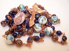 Unbreakable Rosary- COPPER COLLECTION- Rosary Of The Sacred Heart Of Jesus/St. Theresa The Little Flower