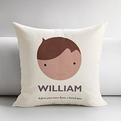 Personalized kids faces throw pillow-Love these for the playroom!!!