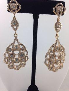 Fashion Jewelry 1928 Jewelry Co. Rhinestone Earrings-Wedding-Statement drop #1928JewelryCo #Chandelier#bestoffer
