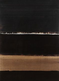 Pierre Soulages (French, b. 1919), 1998 - G, 1998. Brou de noix on cardboard, 102.5 x 74 cm.