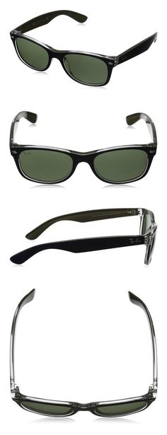 acb12ee53c  98 - Ray-Ban NEW WAYFARER - MT BLUE MILITARY GREEN Frame GREEN Lenses