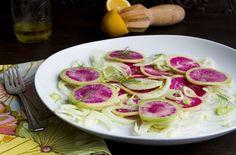 Watermelon Radish and Fennel Salad with Meyer Lemon Vinaigrette