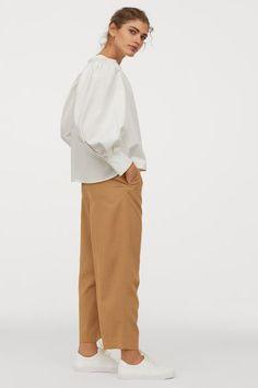 Ankellång byxa i ullmix - Beige - DAM Harem Pants, Normcore, Beige, Style, Fashion, Ankle Pants, Side Bags, Velvet, Birthday