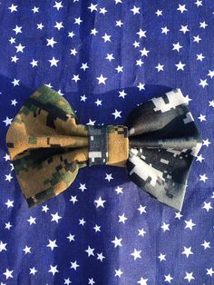 Dual Branch Hair Bow Your Choice of camo by AnAnchorOfLove on Etsy