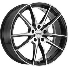 17x8 Machined Black Wheel Petrol P0A 5x110 40