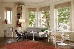 ROMAN BLINDS IN SMALL BAY WINDOWS EG Interior Design | Skandium