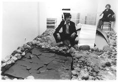 "Alighiero Boetti, ""Shaman Showman"", Galleria De Nieubourg, Milano1968. Photo by Enrico Cattaneo."