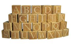 Solid Maple Laser Engraved Wooden Alphabet Block by GiftsByNancyK, $75.00
