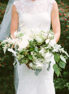 white and green wedding bouquet from 822 weddings!