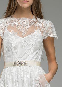 French & Italian Laced Wedding Dress for the Modern Bohemian Bride by KATYA KATYA.