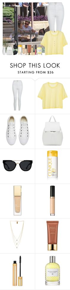 """""""Malibu With Niall"""" by onedirection1d22 ❤ liked on Polyvore featuring New Look, Monki, Converse, Mansur Gavriel, Quay, Clinique, Clarins, Too Faced Cosmetics, Lionette and Estée Lauder"""