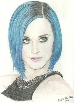 Katy Perry drawing done in colour Amazing Drawings, Cute Drawings, Amazing Art, Famous Celebrities, Celebs, Mom Hairstyles, Celebrity Drawings, Graphic Artwork, Katy Perry