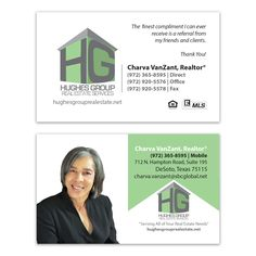 Business Card Design for Hughes Group Real Estate Services, designed by Moksha Media of Dallas - Daymond E. Lavine