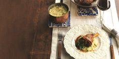 Jarretes de Borrego com polenta de ervilhas e hortelã - Receitas // Espiga