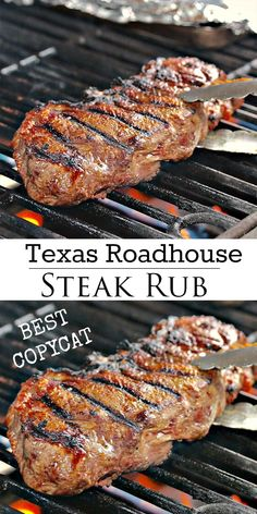 Copycat Texas Roadhouse Steak Rub - The Cozy Cook Grilled Steak Recipes, Baked Chicken Recipes, Simple Steak Recipes, Filet Mignon Recipes Grilled, Easy Grill Recipes, Recipes For The Grill, Deer Steak Recipes, Healthy Chicken Thigh Recipes, Best Grilled Steak