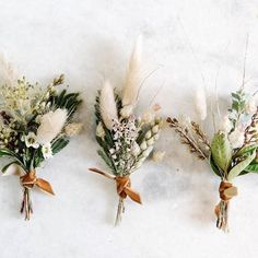 : Neutral and structured boutonniere, one of our most popular floral details . - Neutral and structured boutonniere, one of our most popular floral details! – wedding with pampas - Fall Wedding Flowers, Fall Flowers, Dried Flowers, Floral Wedding, Wedding Bouquets, Wedding Day, Wedding Greenery, Wedding Parties, Dream Wedding