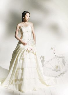 Fantasy wedding dresses - The innocent pure bridal look is losing more and more ground now that more and more new fabulous, magnificent and whimsical unusual designs and styles. Renaissance Wedding Dresses, Fantasy Wedding Dresses, Blue Wedding Dresses, Classic Wedding Dress, Perfect Wedding Dress, Tulle Wedding, One Shoulder Wedding Dress, Bridal Looks, Whimsical