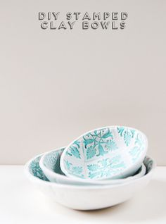diy-stamped-clay-bowls-12 Air Dry Clay Projects