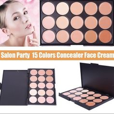 NEW!! 15 Colors Contouring Cream Palette Makeup •Professional 15 Colors Face Concealer  •Brand New & Ships Same Day!  •An extensive range of 15 multiple vibrant long wear concealer colors with different skin tones to create more than 10,000 amazing looks.  •Using the most commonly applied shades, ensures the best skin color match and guarantees a trace less and natural finish. Makeup Concealer