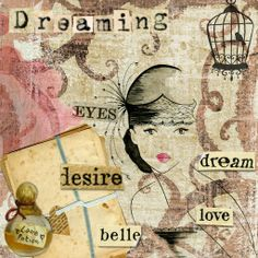 Dreaming - an altered art digital craft project by Sunset made in CraftArtist