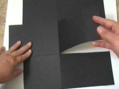 Tutorial - pocket page insert made from 2 12x12 pieces of cardstock: