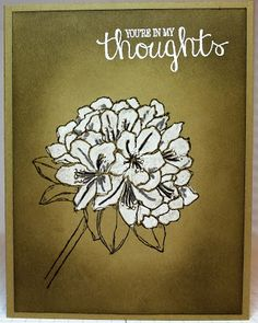 handmade card from Stamping and other stuff: WWC52... kraft ... sponging ... white flowers ... artsy look .. Stampin' Up!