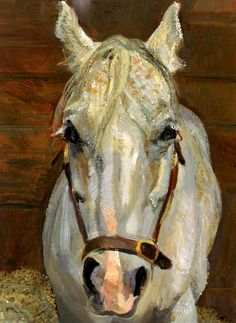 Grey Gelding Lucian Freud Wikiart Org - Grey Gelding By Lucian Freud Expressionism Animal Painting Private Collection Sigmund Freud, Paintings I Love, Animal Paintings, Horse Paintings, Portrait Paintings, Oil Paintings, Jean Fouquet, Robert Rauschenberg, Edward Hopper
