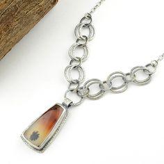 Montana Agate Cabochon Necklace – OliveBungalow