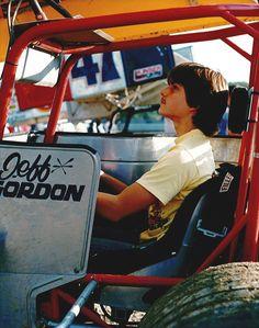About Jeff Gordon - Childhood Photos Nascar 24, Nascar Race Cars, Old Race Cars, Sprint Car Racing, Dirt Track Racing, Auto Racing, Racing News, Jeff Gordon Nascar, Childhood Photos