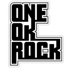 """ONE OK ROCK"" Stickers by Gwyneth Oke | Redbubble"